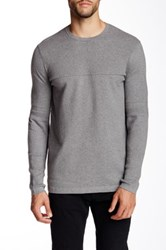Helmut Lang Textured Knit Crew Neck Pullover Gray