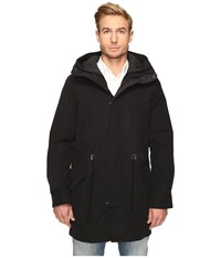 Cole Haan Anorak With Quilted Removable Liner Black Men's Coat