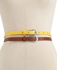 Styleandco. Style And Co. Patent Skinny Belt Set Only At Macy's
