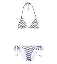 Missoni Mare Metallic Triangle Bikini Multicoloured