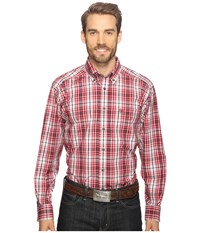Ariat Thorpe Shirt Rouge Men's Long Sleeve Button Up Red