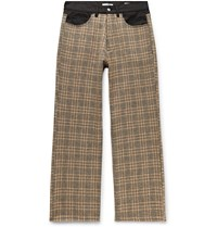 Our Legacy Third Cut Houndstooth Wool And Denim Trousers Brown