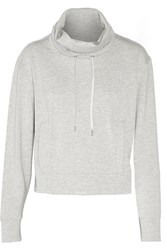 Helmut Lang Stretch Jersey Turtleneck Sweatshirt Gray