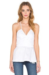Nicholas Cotton Double Peplum Cami White
