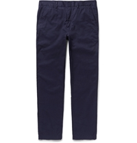 Mcq By Alexander Mcqueen Slim Fit Cotton Twill Trousers Blue