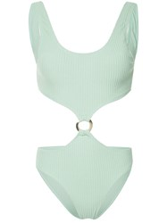 Duskii Julia Cut Out Swimsuit Green