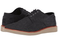 Toms Brogue Black Denim Men's Lace Up Casual Shoes