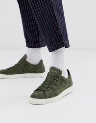 Selected Homme Suede Trainers In Green