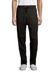 Cult Of Individuality Zipped Cotton Sweatpants Black