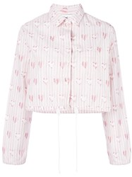 Jimi Roos Heart Print Shirt Pink And Purple