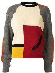 Toga Colour Block Cut Out Detail Sweater 60