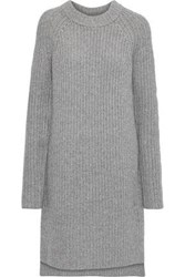 Novis Woman The Newport Ribbed Wool And Cashmere Blend Dress Gray