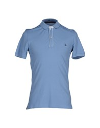 Fay Topwear Polo Shirts Men Dark Blue