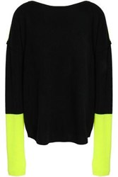 Duffy Two Tone Cashmere Sweater Black