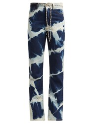 Aries Lilly Argyle Bleached Jeans Blue