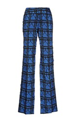 Marni Checkered Trousers Blue