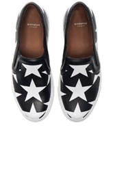 Givenchy Star Print Skate Sneakers In Black Geometric Print