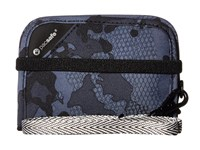 Pacsafe Rfidsafe V50 Anti Theft Rfid Blocking Compact Wallet Grey Camo Wallet Handbags Multi