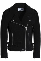 Oak Suede Biker Jacket Black