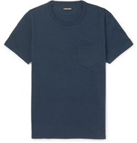 Tom Ford Cotton Jersey T Shirt Navy