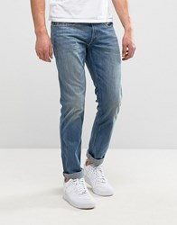Replay Anbass Slim Fit Mid Wash Jean Mid Wash Blue