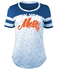 5Th And Ocean Women's New York Mets Space Dye Cb Yoke T Shirt Royalblue