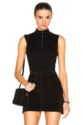 Frame Denim Sleeveless Top In Black