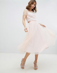Coast Pearla Detail Skirt Pink