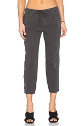 James Perse Cropped Ankle Split Pant Charcoal