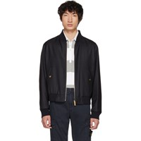 Thom Browne Navy Engineered Center Bomber Jacket
