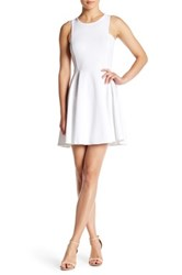Jack Kennet Fit And Flare Dress White