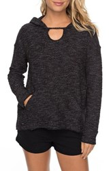 Roxy 'S Crazy Waves Keyhole Hoodie Anthracite