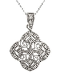Lord And Taylor Sterling Silver Antique Pendant Necklace