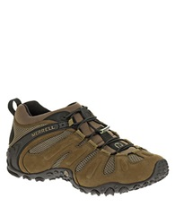 Merrell Chameleon Prime Stretch Leather Sneakers Brown