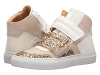 Maison Martin Margiela Mixed Glitter High Top Gold White Beige Glitter