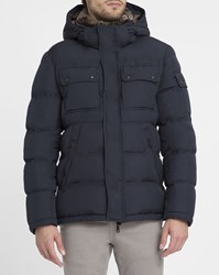 M.Studio Navy David Parka Blue