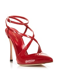 Sergio Rossi Slingback Pumps Bon Ton High Heel Bloody Mary