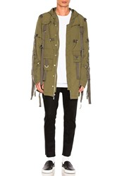 Stampd Flex Strapped Trench Olive