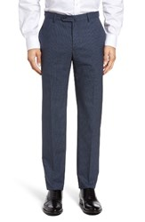 Incotex Men's Flat Front Plaid Wool Trousers