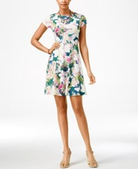 American Living Floral Print Fit And Flare Dress Only At Macy's Blue Ridge Multi