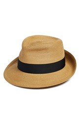 Women's Eric Javits 'Classic' Squishee Packable Fedora Sun Hat Beige Natural Black