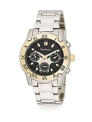 English Laundry Two Tone Stainless Steel Chronograph Bracelet Watch