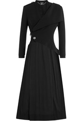 Alexander Mcqueen Midi Length Coat Black