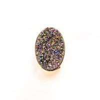 Tiana Jewel Steffy Rainbow Metallic Druzy Ring