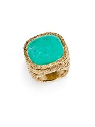 Aurelie Bidermann Miki Turquoise Cocktail Ring