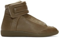 Maison Martin Margiela Brown Leather High Top Future Sneakers