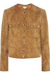 Etoile Isabel Marant Allard Suede Jacket Light Brown