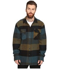 Obey Wallace Woven Blue Multi Men's Clothing