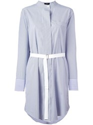 Theory 'Jodalee' Striped Shirtdress Blue