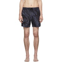 Bottega Veneta Navy Intrecciato Swim Shorts